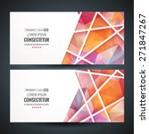 colorful mosaic banner. vector... | Shutterstock .eps vector #271847267