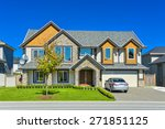 luxury residential house with... | Shutterstock . vector #271851125