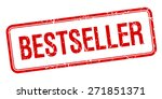bestseller red square grungy... | Shutterstock .eps vector #271851371