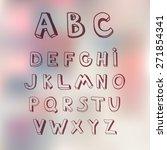 vector brush line alphabet.... | Shutterstock .eps vector #271854341