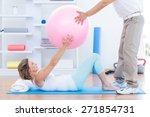 therapist helping his patient...   Shutterstock . vector #271854731