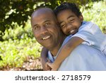 father and son spending quality ... | Shutterstock . vector #2718579
