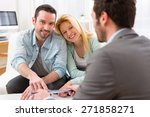 view of a real estate agent... | Shutterstock . vector #271858271