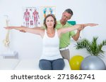 doctor stretching his patients... | Shutterstock . vector #271862741