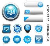 hd button | Shutterstock . vector #271872605