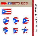 Puerto Rico Flag Set  Flag Set...