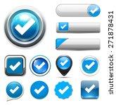 check mark button icon | Shutterstock . vector #271878431