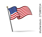 usa flag waving on the wind ... | Shutterstock .eps vector #271885214