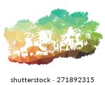 animal of wildlife including... | Shutterstock .eps vector #271892315