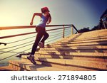 healthy lifestyle sports woman... | Shutterstock . vector #271894805