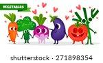 a set of cute fruit.... | Shutterstock .eps vector #271898354