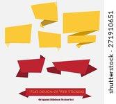 origami ribbon vector set.... | Shutterstock .eps vector #271910651