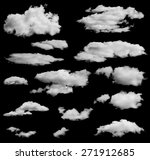 set of isolated clouds over... | Shutterstock .eps vector #271912685