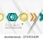 geometric abstract background.... | Shutterstock .eps vector #271921439
