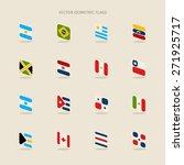 vector set of isometric flags... | Shutterstock .eps vector #271925717