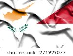 waving flag of monaco and cyprus | Shutterstock . vector #271929077