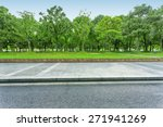 urban road with green trees | Shutterstock . vector #271941269