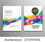 cover report colorful triangle... | Shutterstock .eps vector #271947431