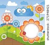 funny multicolor cartoon baby... | Shutterstock . vector #271948421