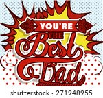 fathers day design over pointed ... | Shutterstock .eps vector #271948955