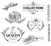 set of vintage and modern farm... | Shutterstock .eps vector #271952555