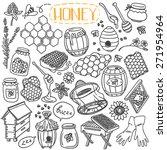 set of beekeeping theme doodles ... | Shutterstock .eps vector #271954964