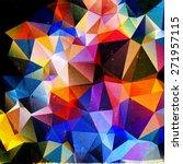 colorful polygonal vintage old... | Shutterstock . vector #271957115