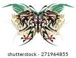 tribal butterfly splashes with... | Shutterstock .eps vector #271964855