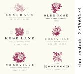 vector rose label set. | Shutterstock .eps vector #271969574