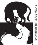 Stock vector cat dog 271970141