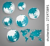 modern globes and world map ... | Shutterstock .eps vector #271973891