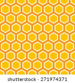 seamless colorful honey comb... | Shutterstock .eps vector #271974371