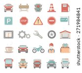 flat icons   traffic | Shutterstock .eps vector #271984841