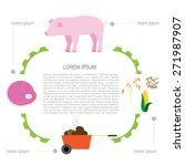 flat farm infographic 2....   Shutterstock .eps vector #271987907