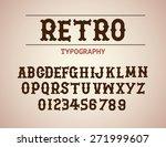 retro typography design font... | Shutterstock .eps vector #271999607