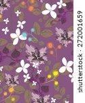 vector seamples flower pattern    Shutterstock .eps vector #272001659