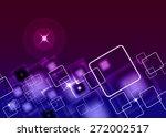 stylish modern business card... | Shutterstock .eps vector #272002517