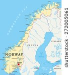 norway political map with... | Shutterstock .eps vector #272005061