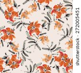 seamless pattern with... | Shutterstock .eps vector #272005451