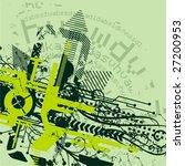 abstract tech background ... | Shutterstock .eps vector #27200953