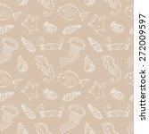 cartoon seamless pattern with... | Shutterstock . vector #272009597