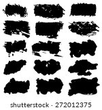 grunge rectangle watercolor... | Shutterstock .eps vector #272012375