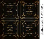 vector set of gold decorative... | Shutterstock .eps vector #272013815