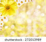 floral border blurred... | Shutterstock . vector #272013989