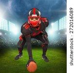 football  american football ... | Shutterstock . vector #272016089