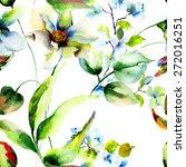 floral seamless pattern ... | Shutterstock . vector #272016251