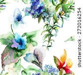 seamless pattern with wild... | Shutterstock . vector #272016254