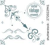vector vintage ornament angular | Shutterstock .eps vector #272022941