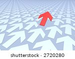 many arrows  one red breaking... | Shutterstock . vector #2720280
