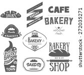 set of bakery logos  labels ...   Shutterstock .eps vector #272035271